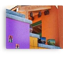 Multi-Colored House Canvas Print