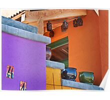 Multi-Colored House Poster