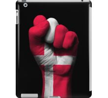 Flag of Denmark on a Raised Clenched Fist  iPad Case/Skin