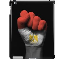 Flag of Egypt on a Raised Clenched Fist  iPad Case/Skin