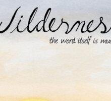 """Wilderness"" Watercolor Print Sticker"