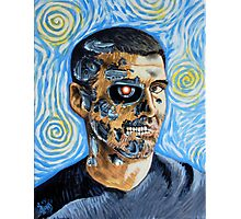 My Van Gogh/T-800 self portrait Photographic Print