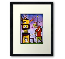 """Ghosts Playing With Toys"" Framed Print"
