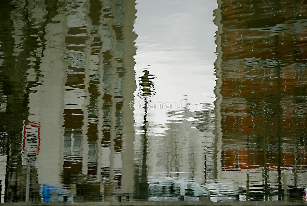 Twisted reflections of Canal St Martin, Paris by triciamary