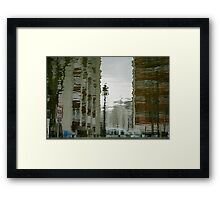 Twisted reflections of Canal St Martin, Paris Framed Print