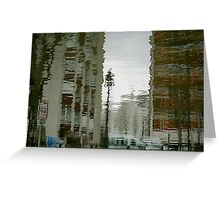 Twisted reflections of Canal St Martin, Paris Greeting Card