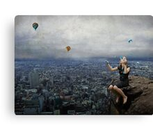 Climb to the top of the mountains........ Canvas Print