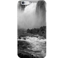 Down the Throat - Iguazu Falls - in monochrome iPhone Case/Skin
