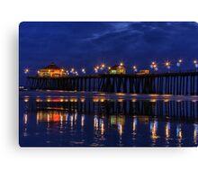 Blue Hour at Huntington Beach Pier~Surf City, USA! Canvas Print