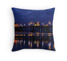 Blue Hour at Huntington Beach Pier~Surf City, USA! Throw Pillow