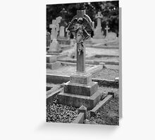 Angel In Cemetery Greeting Card