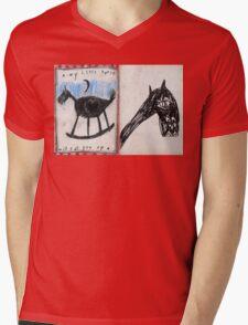 Mon Petit Cheval Mens V-Neck T-Shirt
