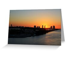 Good Morning Miami Greeting Card
