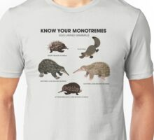 Know Your Monotremes Unisex T-Shirt