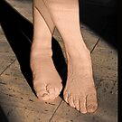 Bare Feet Standing in Sunlight by Kellice Swaggerty