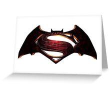 Batman vs. Superman Logo Greeting Card