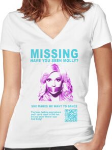 Have You Seen Molly? Women's Fitted V-Neck T-Shirt