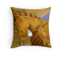 Trojan Horse In The Forum Shops Throw Pillow
