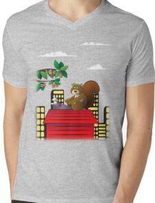 Typewriting Squirrel Mens V-Neck T-Shirt