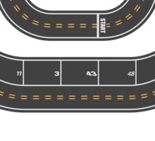 Race Track - Start your Engines Sticker