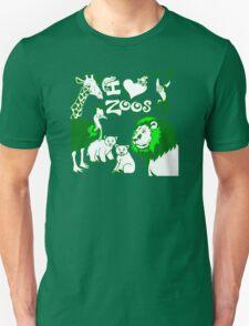 I Love Zoos (green) T-Shirt