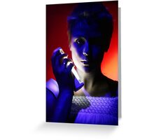 Projection (performance photography) Greeting Card