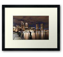 Harborwalk Boston Framed Print