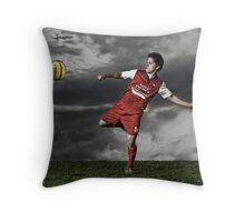 Soccer Portrait Throw Pillow
