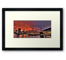 Sailors Warning - Campbells Cove , Sydney- The HDR Experience Framed Print