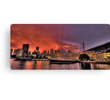 Sailors Warning - Campbells Cove , Sydney- The HDR Experience Canvas Print