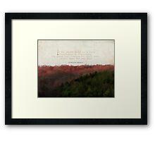 foundation in friendship-inspirational Framed Print