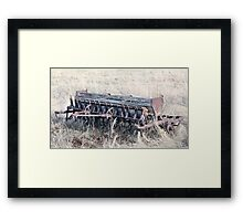 Antique Grain Seeder 1925 - 1926 JD VAN BRUNDT Framed Print