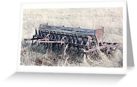 Antique Grain Seeder 1925 - 1926 JD VAN BRUNDT by Leslie van de Ligt