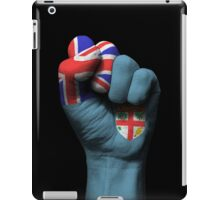 Flag of Fiji on a Raised Clenched Fist  iPad Case/Skin