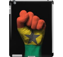 Flag of Ghana on a Raised Clenched Fist  iPad Case/Skin