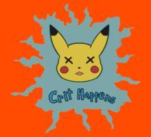 Pokemon Crit Happens Pikachu Shirt Kids Clothes