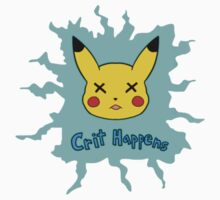 Pokemon Crit Happens Pikachu Shirt Kids Clothes