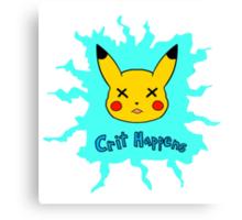 Pokemon Crit Happens Pikachu Shirt Canvas Print