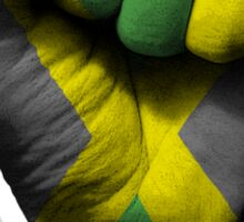 Flag of Jamaica on a Raised Clenched Fist  Sticker