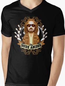 The Dude Abides Mens V-Neck T-Shirt