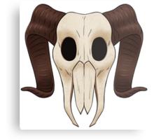 Podge Skull Emblem Metal Print