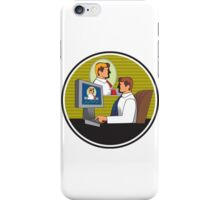 Businessman Video Conference Retro iPhone Case/Skin