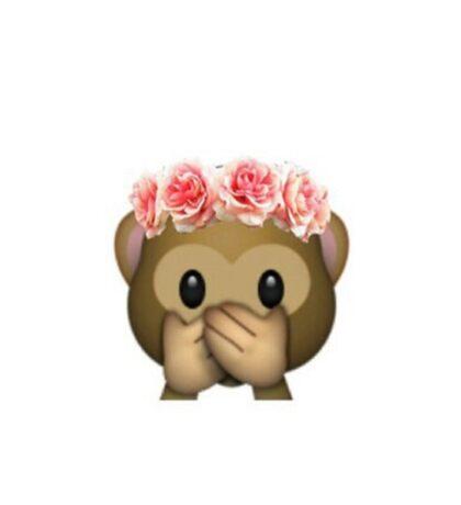 Monkey Flower Crown Emoji Sticker