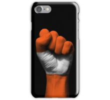 Flag of Austria on a Raised Clenched Fist  iPhone Case/Skin
