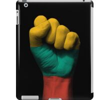 Flag of Lithuania on a Raised Clenched Fist  iPad Case/Skin