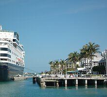 Ships Docked in Key West by Margaret  Shark
