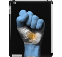 Flag of Argentina on a Raised Clenched Fist  iPad Case/Skin