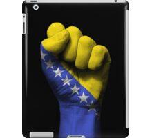 Flag of Bosnia Herzegovina on a Raised Clenched Fist  iPad Case/Skin