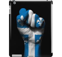Flag of Quebec on a Raised Clenched Fist  iPad Case/Skin