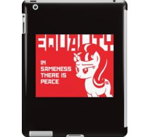 IN SAMENESS THERE IS PEACE iPad Case/Skin